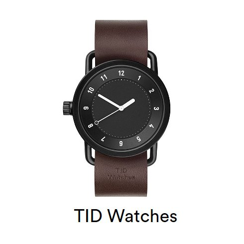 TID Watch(ティッドウォッチ)<br>BLACK×WALNUT 40cm  16春夏.【TID01-BK×W】 その他