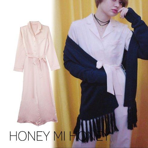 Honey mi Honey (ハニーミーハニー)<br>satin allinone  16秋冬【16A-TA-06】 オールインワン・コンビネゾン sale