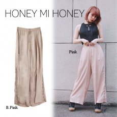 Honey mi Honey (ハニーミーハニー)<br>side button widepants  16秋冬【16A-TA-10】 パンツ
