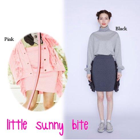 LITTLE SUNNY BITE(リトルサニーバイト)<br>frill frill skirt  16秋冬【LSB-LSK-003F】 タイトスカート sale
