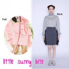 LITTLE SUNNY BITE(リトルサニーバイト)<br>frill frill skirt  16秋冬【LSB-LSK-003F】 タイトスカート