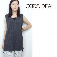 COCO DEAL(ココディール)<br>ワイドリブビックノースリニット  16秋冬【76531016】 ニットトップス sale