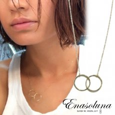 Enasoluna(エナソルーナ)<br>W oh necklace 【EN-NK-1145】