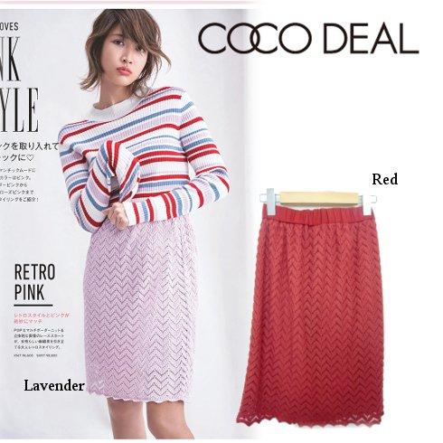 COCO DEAL(ココディール)<br>幾何学レースタイトスカート 【77117042】 タイトスカート sale