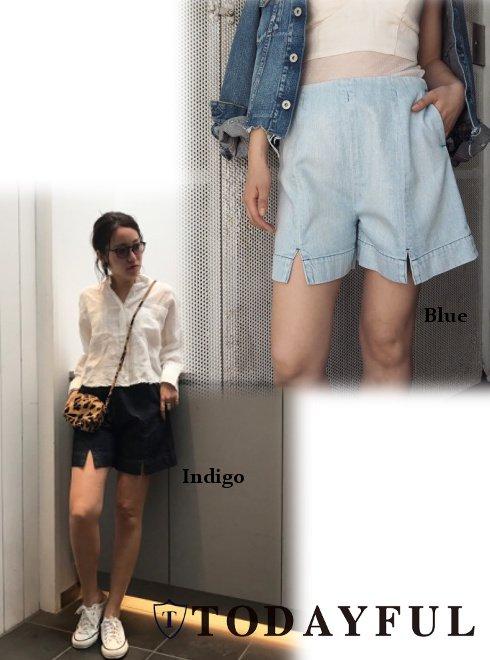 TODAYFUL(トゥデイフル)<br>Slit Denim Shortpants .【11711415】 ショートパンツ sale