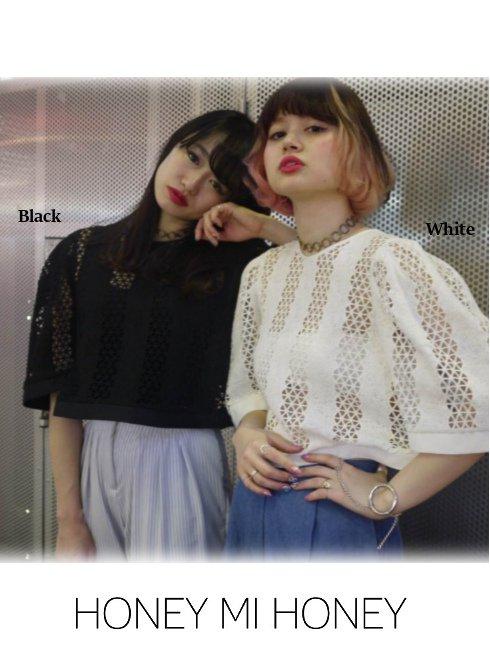 Honey mi Honey (ハニーミーハニー)<br>deformation lace blouse .【17S-TA-36】 シャツ・ブラウス sale