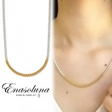 Enasoluna(エナソルーナ)<br>Silver chain necklace 【NK-1246】