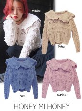 Honey mi Honey (ハニーミーハニー)<br>sailor knit  17秋冬【17A-WV-10】 sale