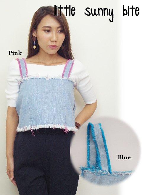 LITTLE SUNNY BITE(リトルサニーバイト)<br>denim bustier  17秋冬【LSB-LPT-174H】 Tシャツ sale