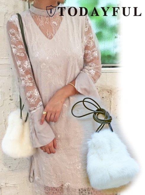TODAYFUL(トゥデイフル)<br>Eco Fur Shourder  17秋冬.【11721058】 ハンド・ショルダーバッグ sale