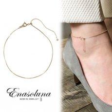 Enasoluna(エナソルーナ)<br>Loop anklet 【AN-1276】 ブレスレット・アンクレット