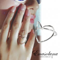"Enasoluna(エナソルーナ)<br>Heartful ring""Silver""  予約【RG-1282】"