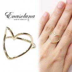 """Enasoluna(エナソルーナ)<br>Heartful ring""""K10"""" 予約【RG-1281】リング 入荷時期:12月上旬~"""