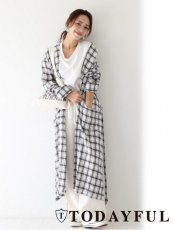 TODAYFUL(トゥデイフル)<br>Check Rough Gown  18春夏予約2【11810009】 カーディガン