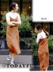 TODAYFUL(トゥデイフル)<br>Satin Cami Dress  18春夏【11810307】