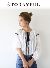TODAYFUL(トゥデイフル)<br>Embroidery Voile Blouse  18春夏予約【11810404】