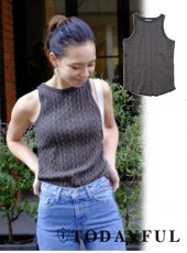 TODAYFUL(トゥデイフル)<br>Cable Knit Tank  18春夏予約【11810521】