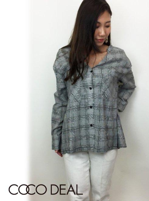 COCO DEAL(ココディール)<br>先染めチェックシャツ  18春夏【78118015】 シャツ・ブラウス 18sspre sale
