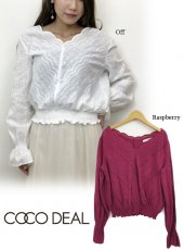 COCO DEAL(ココディール)<br>スカラレース刺繍ブラウス  18春夏【78118141】 シャツ・ブラウス 18sspre