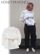 Honey mi Honey (ハニーミーハニー)<br>linen blouse  18春夏【18S-TA-05】18sspre シャツ・ブラウス