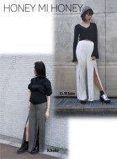 Honey mi Honey (ハニーミーハニー)<br>frontslit widepants  18春夏予約【18S-TA-06】