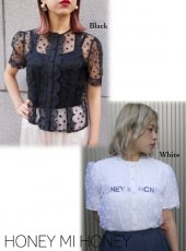Honey mi Honey (ハニーミーハニー)<br>dot scallop blouse  18春夏【18S-TA-07】