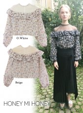 Honey mi Honey (ハニーミーハニー)<br>flower-print blouse  18春夏【18S-VG-12】