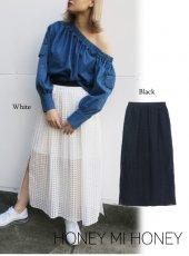 Honey mi Honey (ハニーミーハニー)<br>check pleats skirt  18春夏【18S-VG-20】18sspre ロング・マキシスカート