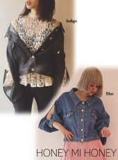 Honey mi Honey (ハニーミーハニー)<br>arm slit denim jacket  18春夏【18S-WV-05】
