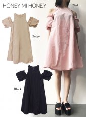 Honey mi Honey (ハニーミーハニー)<br>tacfrill taffeta one-piece  18春夏【18S-WV-07】