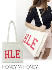 Honey mi Honey (ハニーミーハニー)<br>H.L.E logo canvas bag  18春夏予約【18S-WV-23】