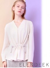 ELENDEEK(エレンディーク)<br>FRONT SQUEEZE BLOUSE  18春夏【511810410401】