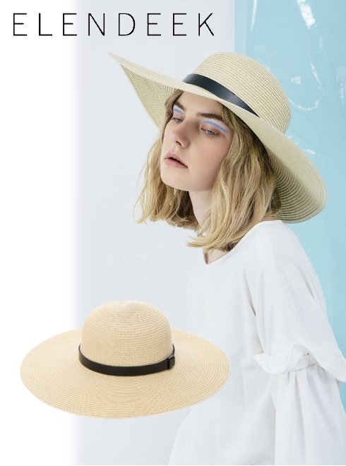 ELENDEEK(エレンディーク)<br>BOATER LINE HAT  18春夏【511821009901】18sspre 帽子 sale