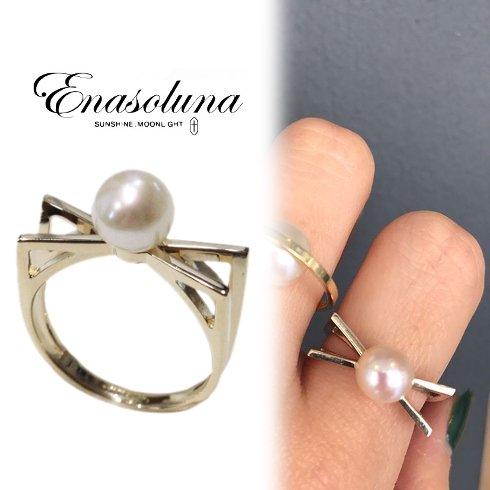 Enasoluna(エナソルーナ)<br>Pearl to meet ring 【RG-939】 リング
