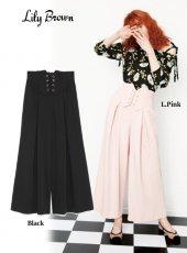 Lily Brown(リリーブラウン)<br>バックリボンワイドパンツ  18春夏2【LWFP181043】18sspre パンツ