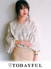 TODAYFUL(トゥデイフル)<br>Jacquard Balloon Blouse  18春夏.予約【11810429】