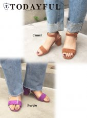 TODAYFUL(トゥデイフル)<br>Suede Square Sandals  18春夏.予約【11811038】