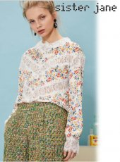 sister jane(シスタージェーン)<br>Agave Lace Insert Blouse  18春夏【17SJ02TO362】18sspre シャツ・ブラウス