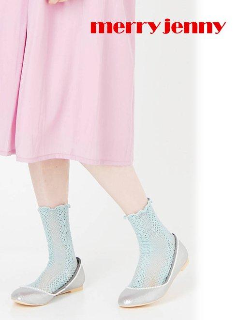 merry jenny(メリージェニー)<br>パールバレエシューズ  18春夏.【281831803601】18sspre フラットシューズ sale