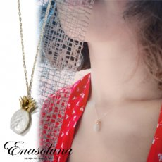 Enasoluna(エナソルーナ)<br>Bear fruit necklace'Pineapple' 【NK-1365】 ネックレス