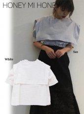 Honey mi Honey (ハニーミーハニー)<br>stripe sailor blouse  18春夏.【18S-TA-27】18sspre シャツ・ブラウス