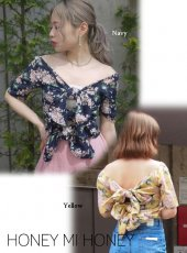 Honey mi Honey (ハニーミーハニー)<br>2way flower blouse  18春夏.【18S-TA-32】