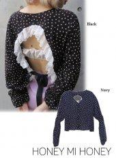 Honey mi Honey (ハニーミーハニー)<br>dot blouse  18春夏.【18S-VG-30】18sspre シャツ・ブラウス