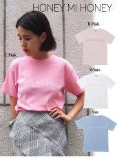 Honey mi Honey (ハニーミーハニー)<br>logo T-shirt  18春夏.【18S-VG-33】 Tシャツ 18sspre