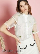 sister jane(シスタージェーン)<br>Lumens Embroidered Blouse  18春夏.【17SJ03BL732】