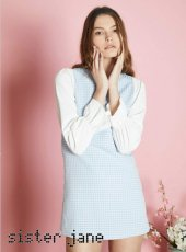 sister jane(シスタージェーン)<br>Simple Math Pinafore Dress  18春夏.【17SJ03DR927】