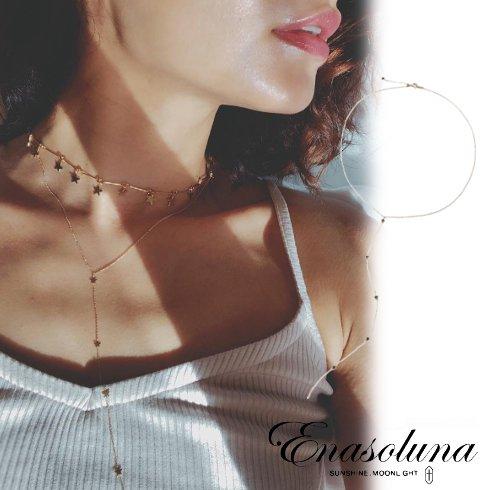 Enasoluna(エナソルーナ)<br>Falling star necklace 【NK-1360】 ネックレス