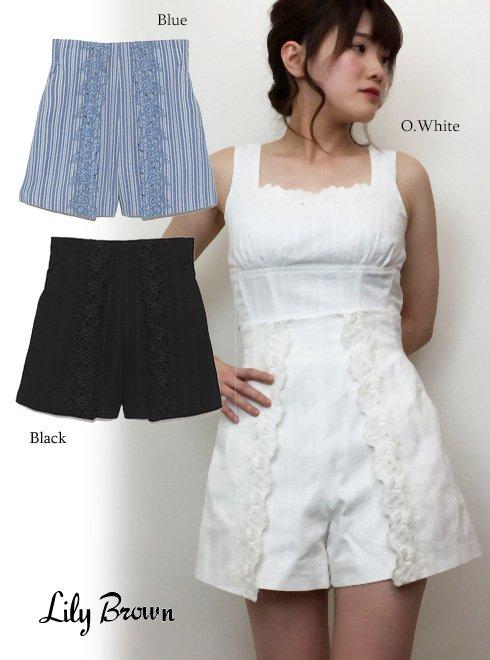 Lily Brown(リリーブラウン)<br>コットン刺繍ショートパンツ  18春夏.【LWFP182101】18sspre ショートパンツ sale