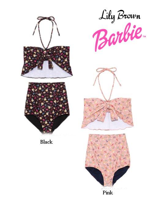 Lily Brown(リリーブラウン)<br>Barbieバービー コラボスイムウェア  18春夏.【LWGG182342】18sspre 水着 sale