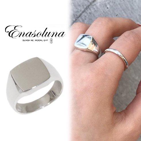 Enasoluna(エナソルーナ)<br>Signature ring 'Silver'【RG-1396】 リング